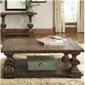 Liberty Furniture Sedona 3 Piece Occasional Table Group with Cockatil Table and Sofa Table and End Table - Cocktail Table