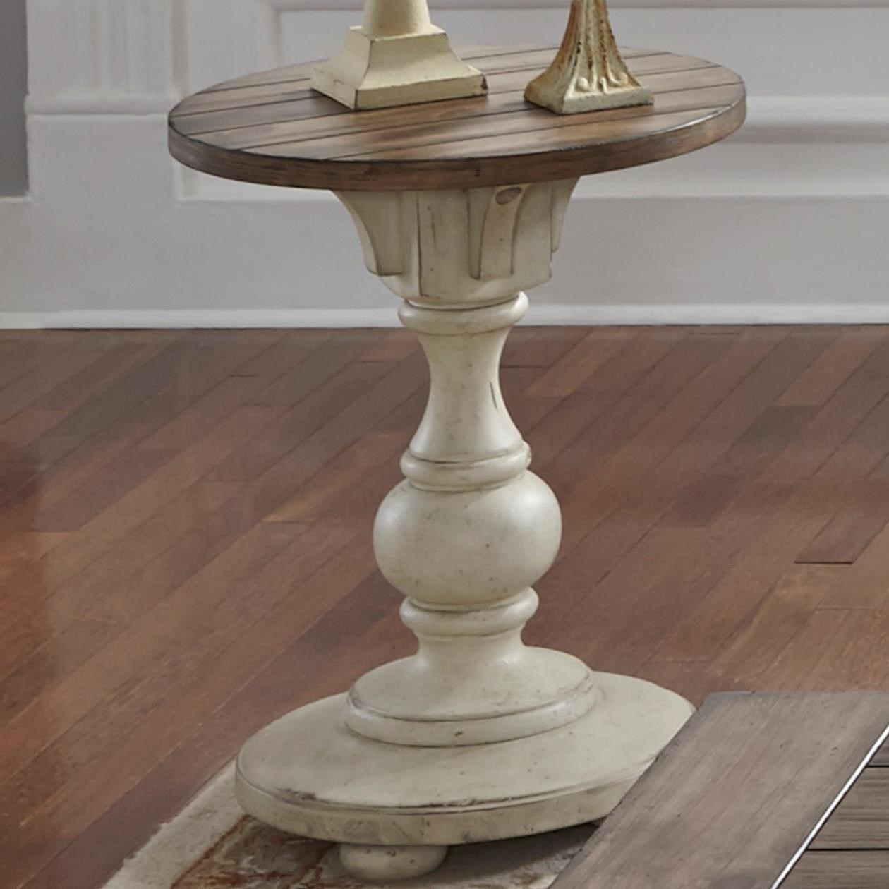 liberty furniture morgan creek relaxed vintage chair side table with planked top