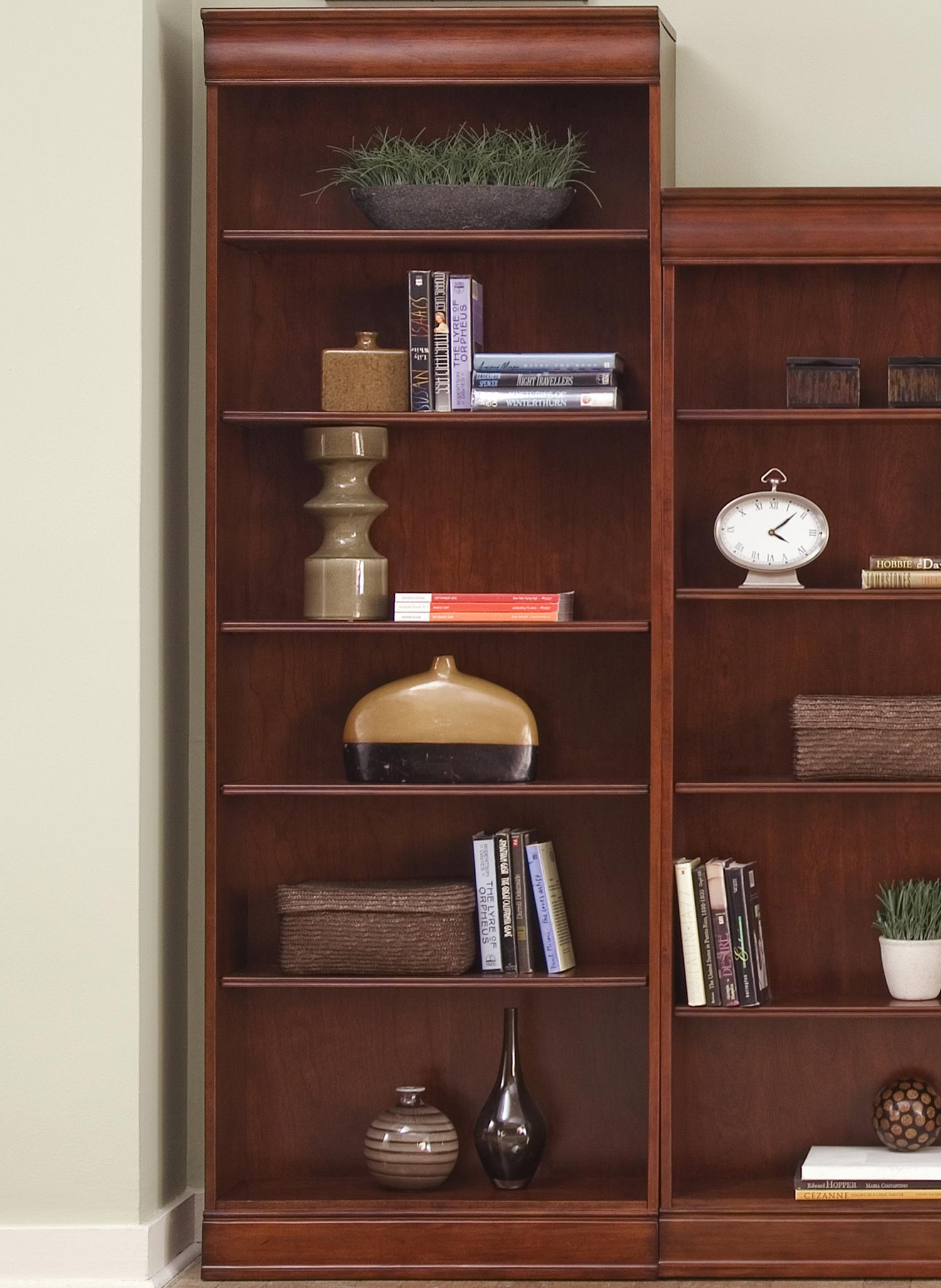 "Liberty Furniture Louis Jr Executive 84"" Bookcase  - Item Number: 101-HO3084-R"