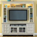 Liberty Furniture New Generation Coastal Style Entertainment Console with Storage - Pictured with Hutch