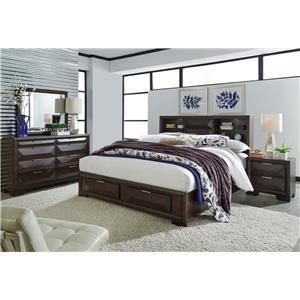 Liberty Furniture Nolan 4-Piece Queen Storage Bedroom Set