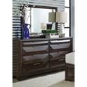 Liberty Furniture Newland Dresser and Mirror Set - Item Number: 148-BR-DM