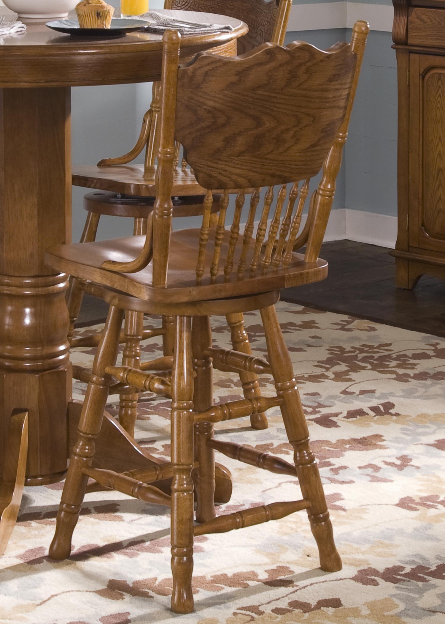 Liberty Furniture Nostalgia Mission 24 Inch Press Back Barstool