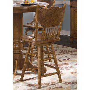 Liberty Furniture Nostalgia  24 Inch Back Barstool