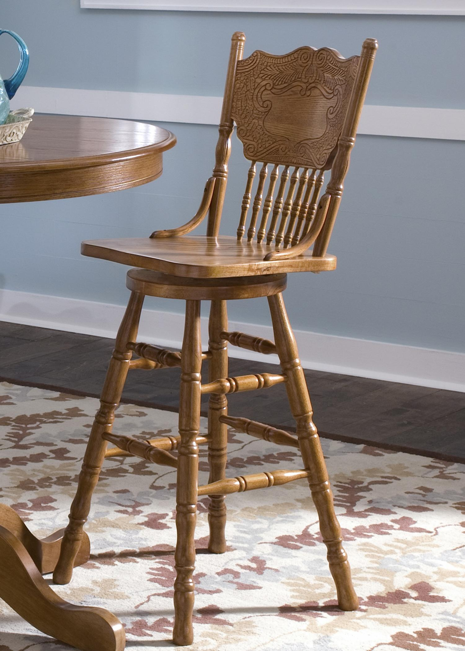 Liberty Furniture Nostalgia  30 Inch Back Barstool - Item Number: 10-B51730
