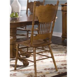 Liberty Furniture Nostalgia  Double Press Back Side Chair