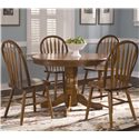 Vendor 5349 Nostalgia  Dining Room Side Chair - Arrow Back Windsor Side Chair Shown with Round Pedestal Table