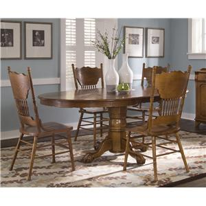 Liberty Furniture Nostalgia  5 Piece Pedestal Table Set