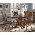 Vendor 5349 Nostalgia  5 Piece Pedestal Table Set - Item Number: 10-CD-SET17