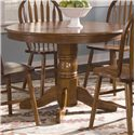 Liberty Furniture Nostalgia  Round Pedestal Table - Item Number: 10-P510+10-T510
