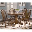 Liberty Furniture Nostalgia  Round Pedestal Dining Table - Shown with Arrow Back Windsor Side Chairs