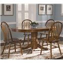 Liberty Furniture Nostalgia  Oval Pedestal Dinner Table - Oval Pedestal Table Shown with Arrow Back Windsor Slide Chairs