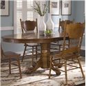 Liberty Furniture Nostalgia  Oval Pedestal Table - Item Number: 10-P521+T521