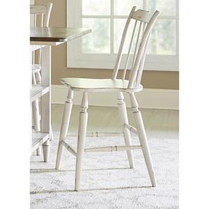Vendor 5349 Oak Hill Dining Windsor Back Counter Chair
