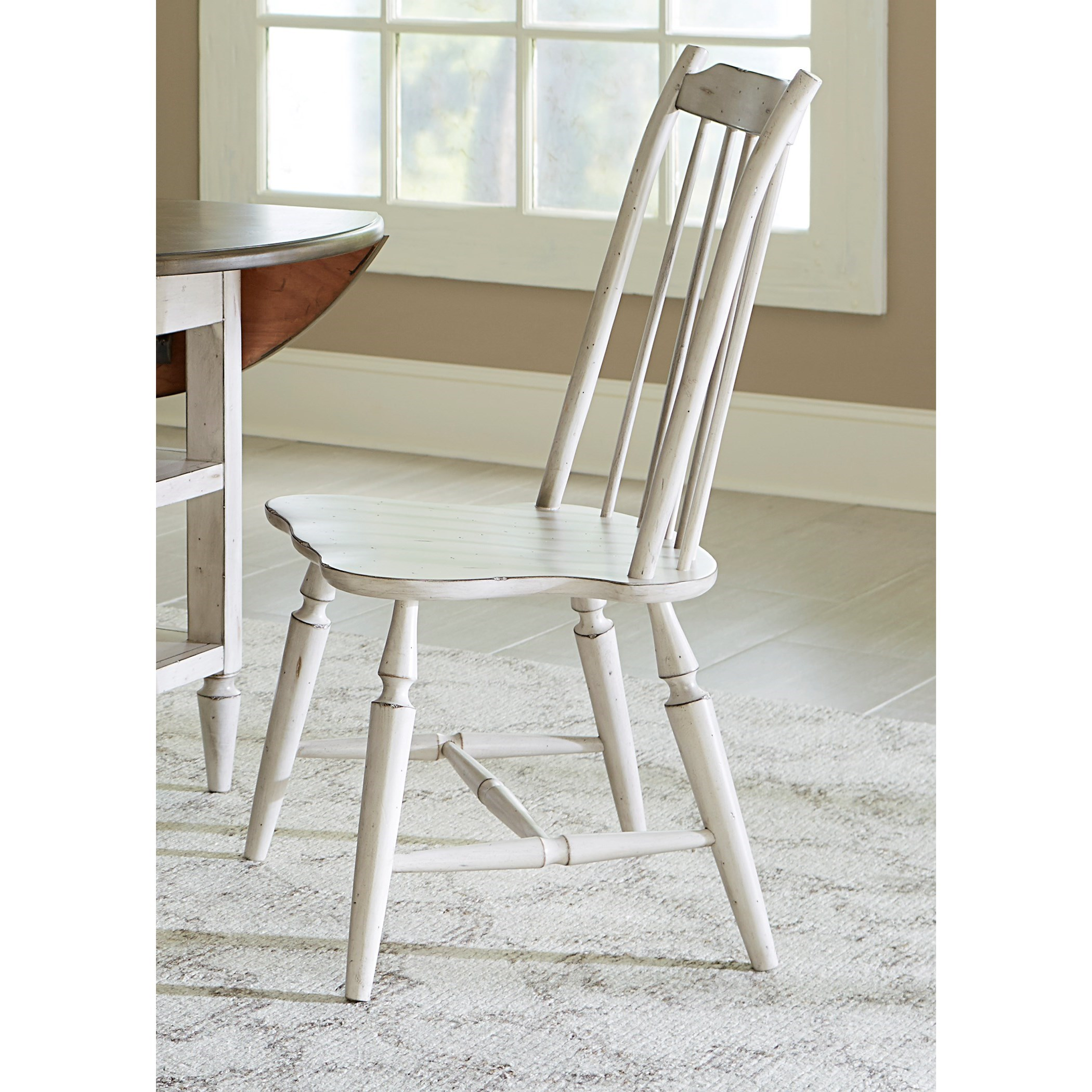 Liberty Furniture Oak Hill Dining Windsor Back Side Chair   Item Number:  517 C1001S