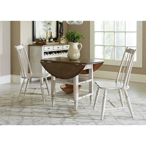 Vendor 5349 Oak Hill Dining 3 Piece Drop Leaf Table Set