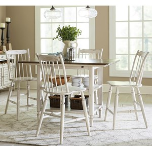 Vendor 5349 Oak Hill Dining 5 Piece Gathering Table Set