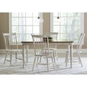 Liberty Furniture Oak Hill Dining 5 Piece Rectangular Table Set - Item Number: 517-CD-5RLS