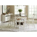 Vendor 5349 Oak Hill Dining Center Island Table with Storage
