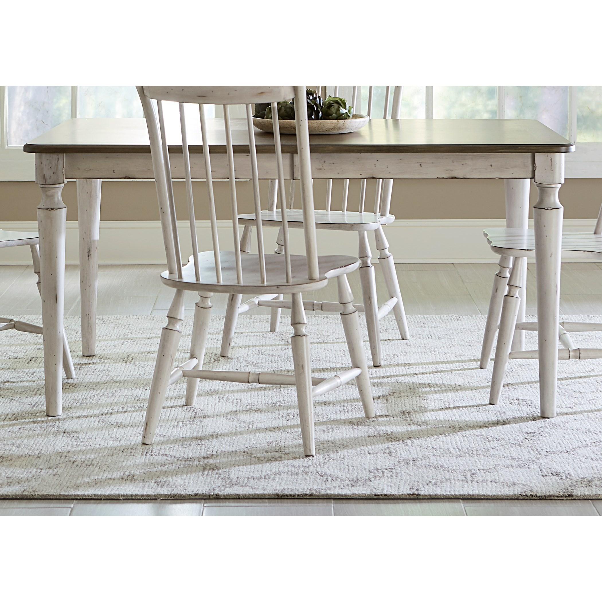 Vendor 5349 Oak Hill Dining Rectangular Leg Table - Item Number: 517-T4078