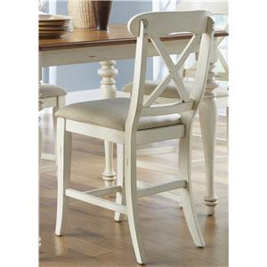 Liberty Furniture Ocean Isle  X-Back Counter Height Stool