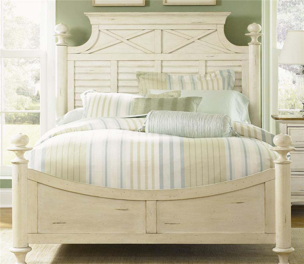 Liberty Furniture Ocean Isle  Queen Poster Bed - Item Number: 303-BR05+06+72
