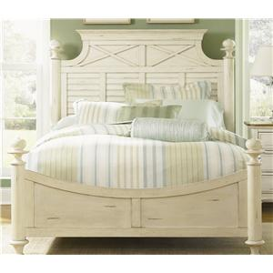 Vendor 5349 Ocean Isle  Queen Poster Bed