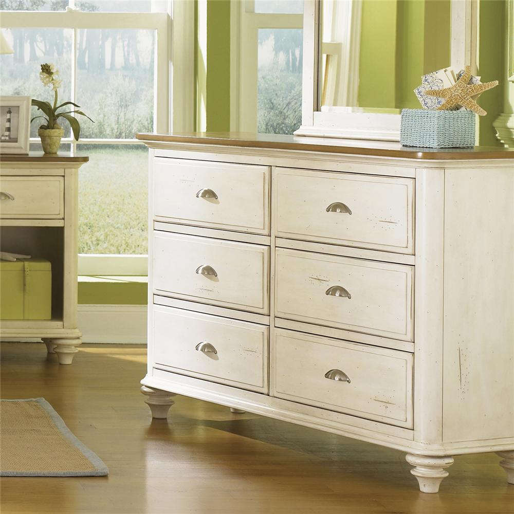 Liberty Furniture Ocean Isle  Youth 6 Drawer Dresser - Item Number: 303-BR30