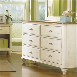Vendor 5349 Ocean Isle  Youth 6 Drawer Dresser