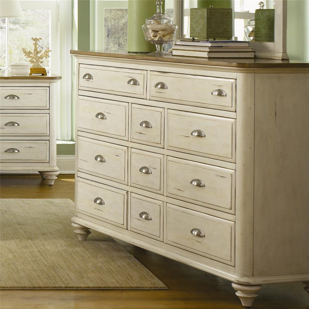 Liberty Furniture Ocean Isle  11 Drawer Dresser - Item Number: 303-BR32