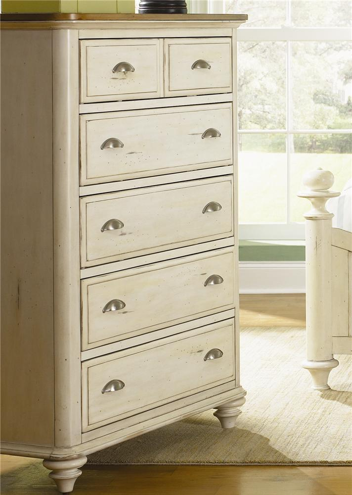Liberty Furniture Ocean Isle  5 Drawer Chest - Item Number: 303-BR41