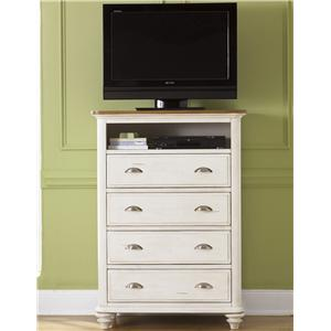 Vendor 5349 Ocean Isle  Youth 4 Drawer Media Chest