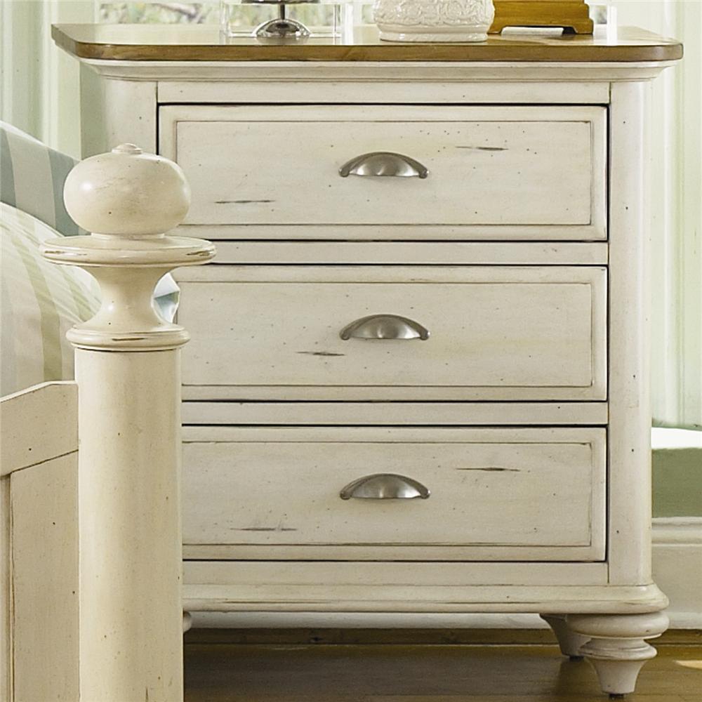 Liberty Furniture Ocean Isle  3 Drawer Nightstand - Item Number: 303-BR62