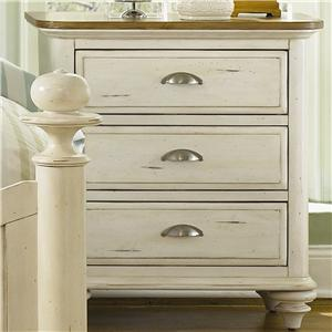 Liberty Furniture Ocean Isle  3 Drawer Nightstand