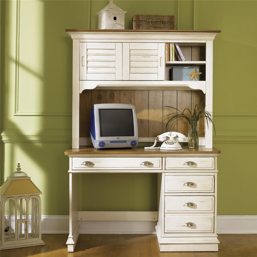 Liberty Furniture Ocean Isle  Student Desk & Hutch - Item Number: 303-BR70B+H