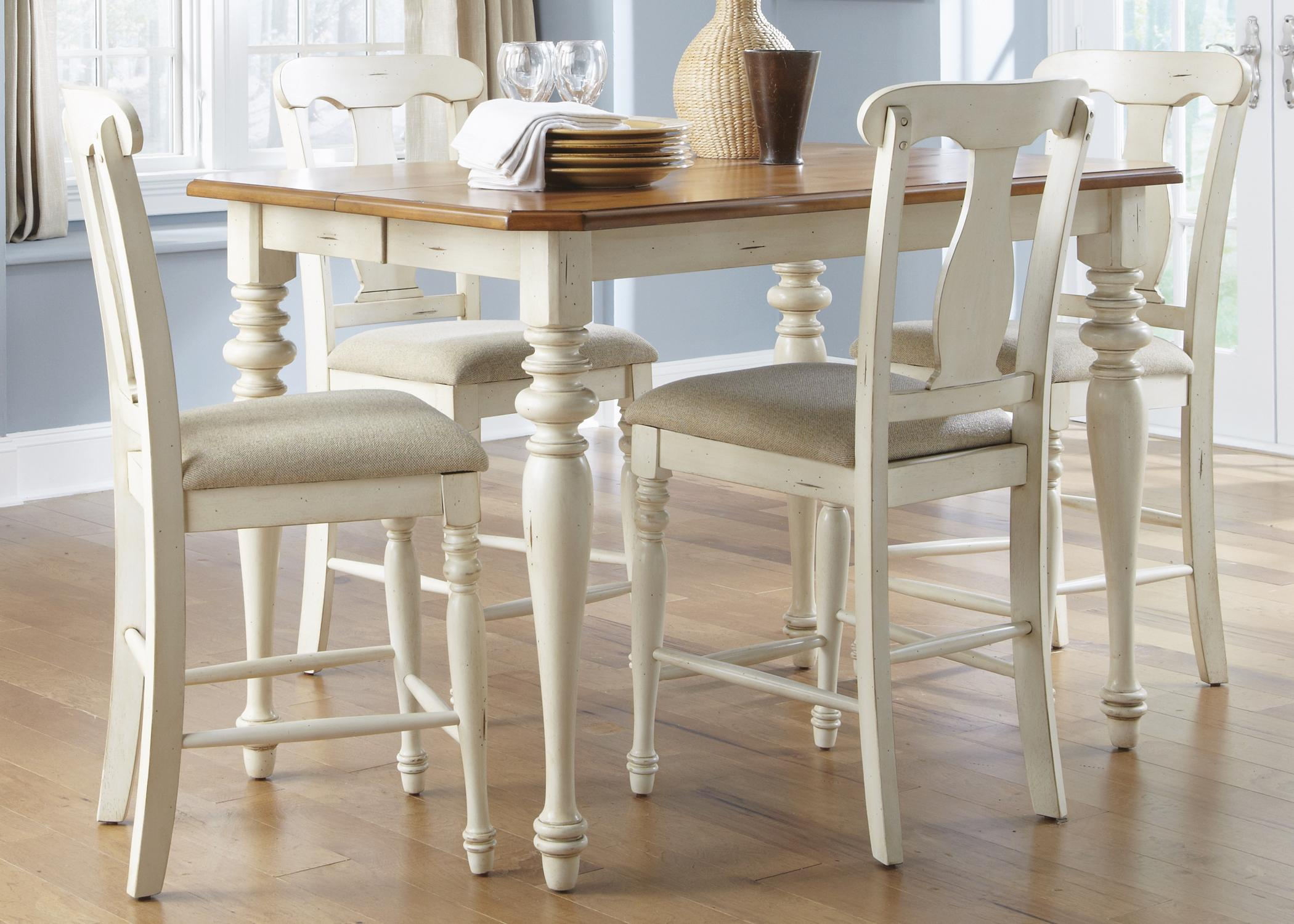 Liberty Furniture Ocean Isle  5-Piece Gathering Height Dining Set  - Item Number: 303-CD-SET14