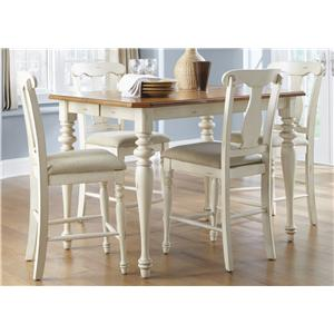 Vendor 5349 Ocean Isle  5-Piece Gathering Height Dining Set
