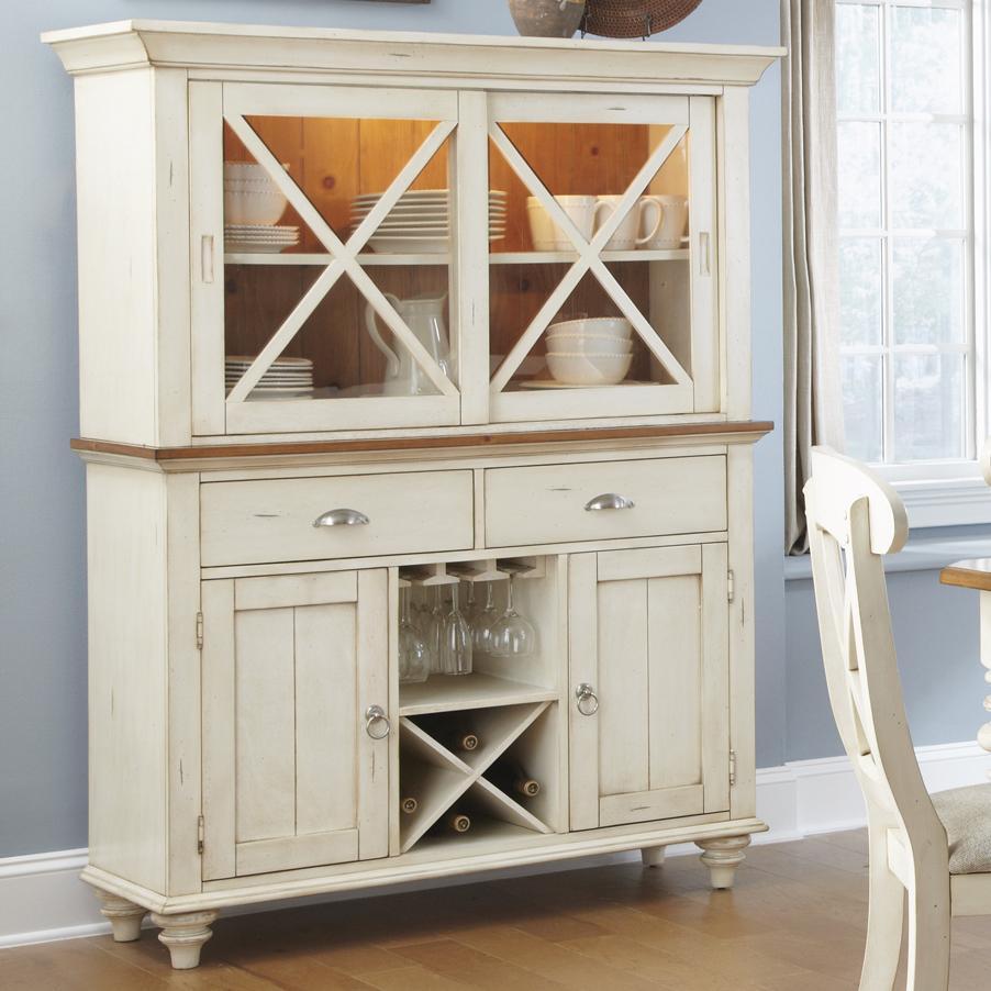 Liberty Furniture Ocean Isle  Hutch & Buffet  - Item Number: 303-CD-SET62
