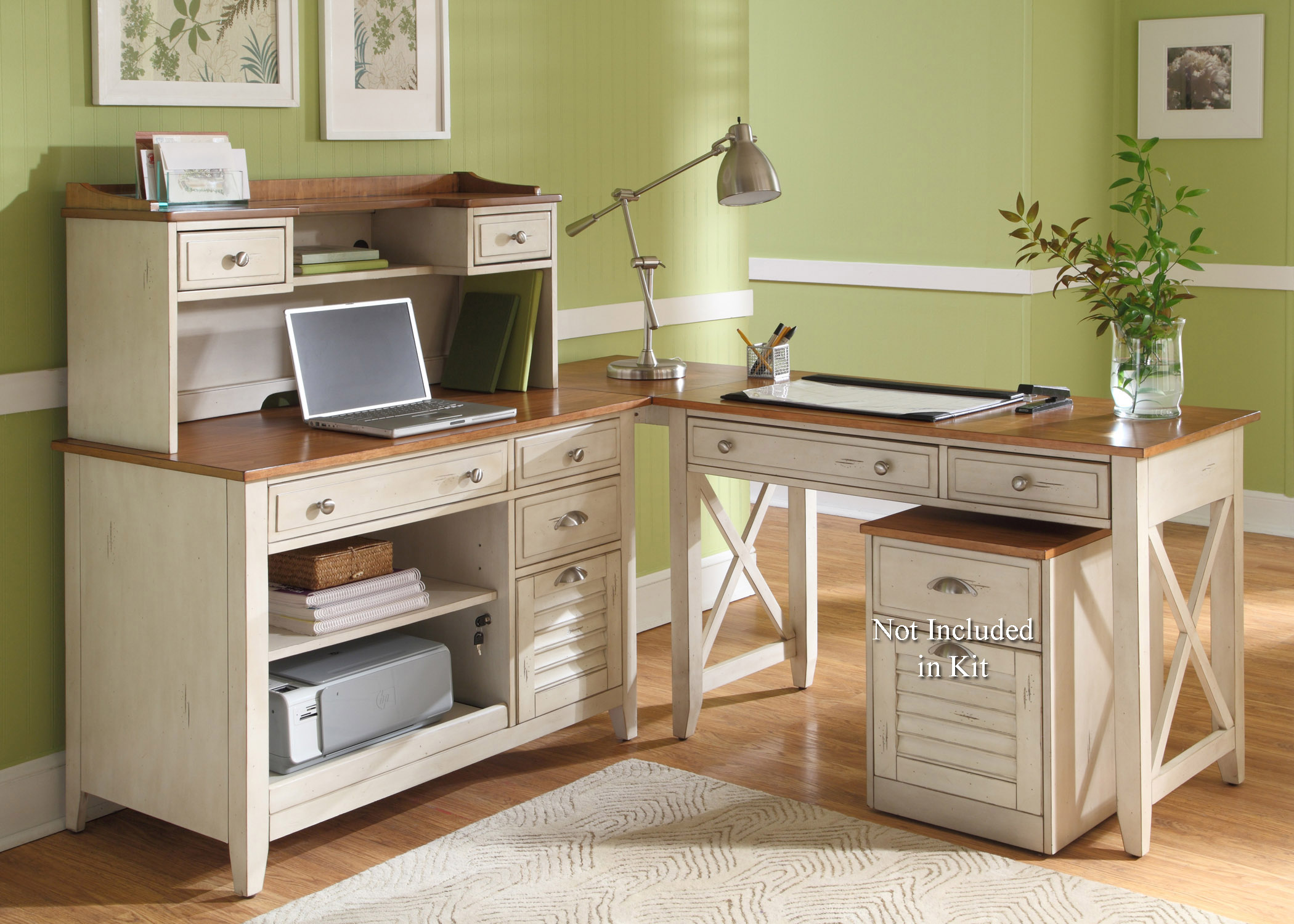 Liberty Furniture Ocean Isle  Complete Desk  - Item Number: 303-HO-CDS