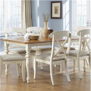 Vendor 5349 Ocean Isle  Rectangular Leg Dining Table