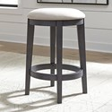 Liberty Furniture Ocean Isle Upholstered Console Stool - Item Number: 303G-OT9001