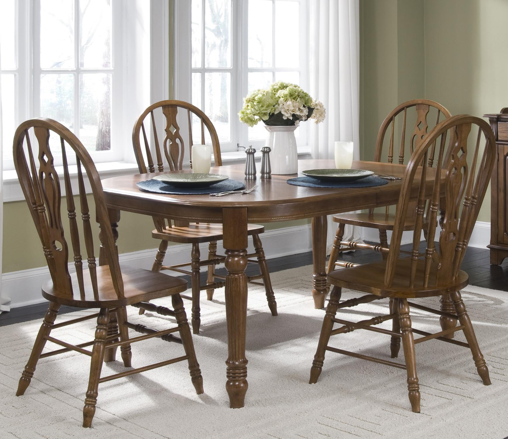 Liberty Furniture Old World Casual Dining Five Piece Dining Set - Item Number: 18-CD-SET15