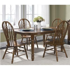 Liberty Furniture Old World Casual Dining Five Piece Dining Set