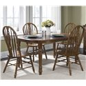 Vendor 5349 Old World Casual Dining Five Piece Dining Set - Item Number: 18-CD-SET15