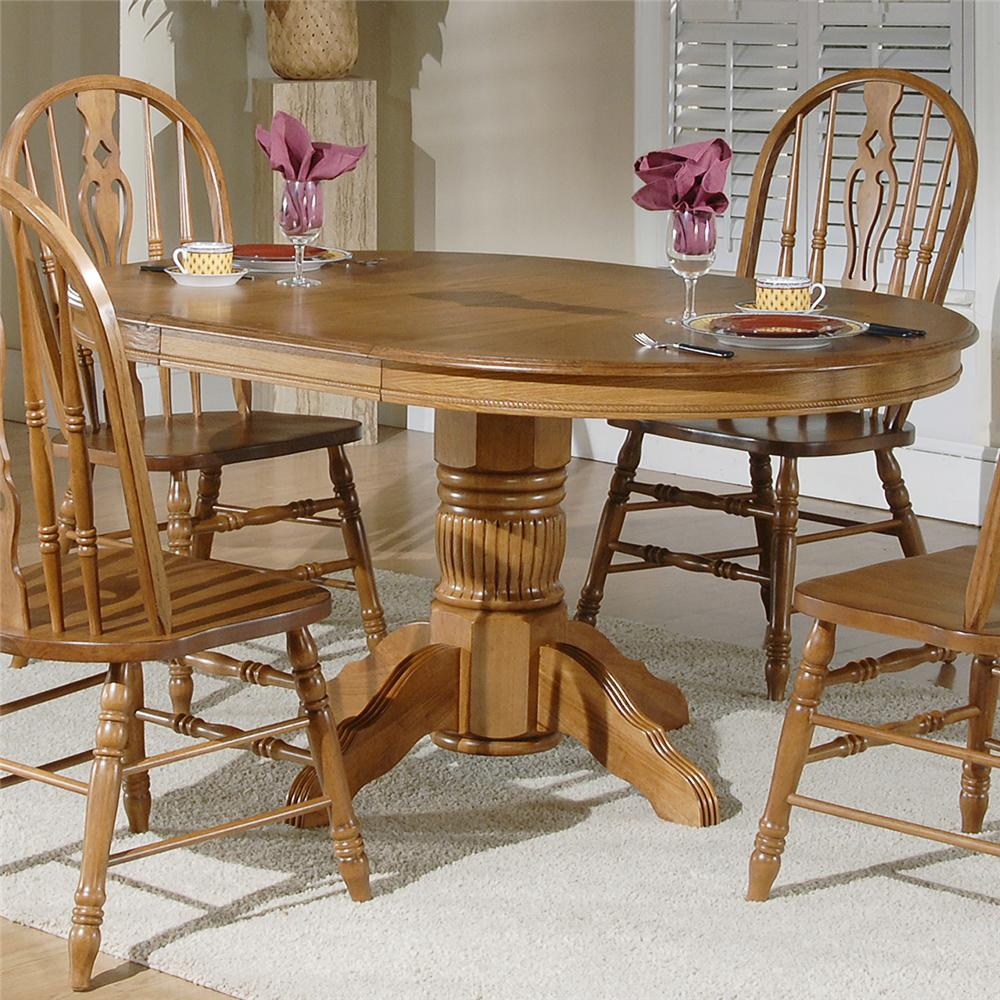 Liberty Furniture Old World Casual Dining Oval Pedestal Table - Item Number: 18-P560+T560