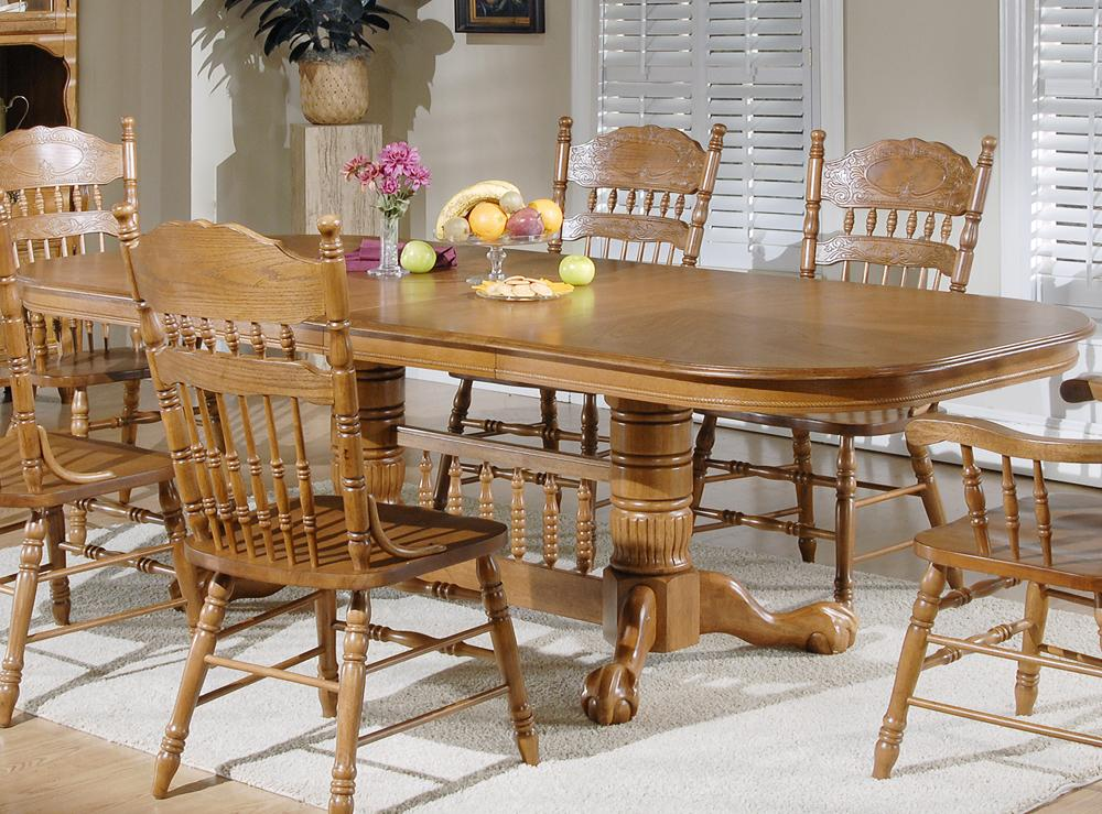 Liberty Furniture Old World Casual Dining Double Pedestal Table - Item Number: 18-P570+T570
