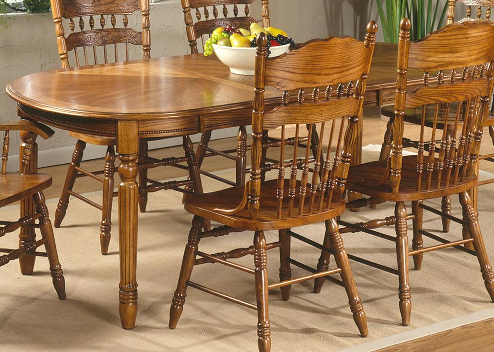 Liberty Furniture Old World Casual Dining 7 Pc. Oval Leg Table & Chair Set - Item Number: 18-T566+2xC564A+4xC563S