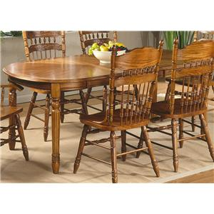 Liberty Furniture Old World Casual Dining 7 Pc. Oval Leg Table & Chair Set