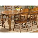 Vendor 5349 Old World Casual Dining 7 Pc. Oval Leg Table & Chair Set - Item Number: 18-T566+2xC564A+4xC563S