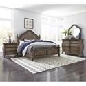 Liberty Furniture Parisian Marketplace Queen Bedroom Group - Item Number: 598-BR-QPSDMN